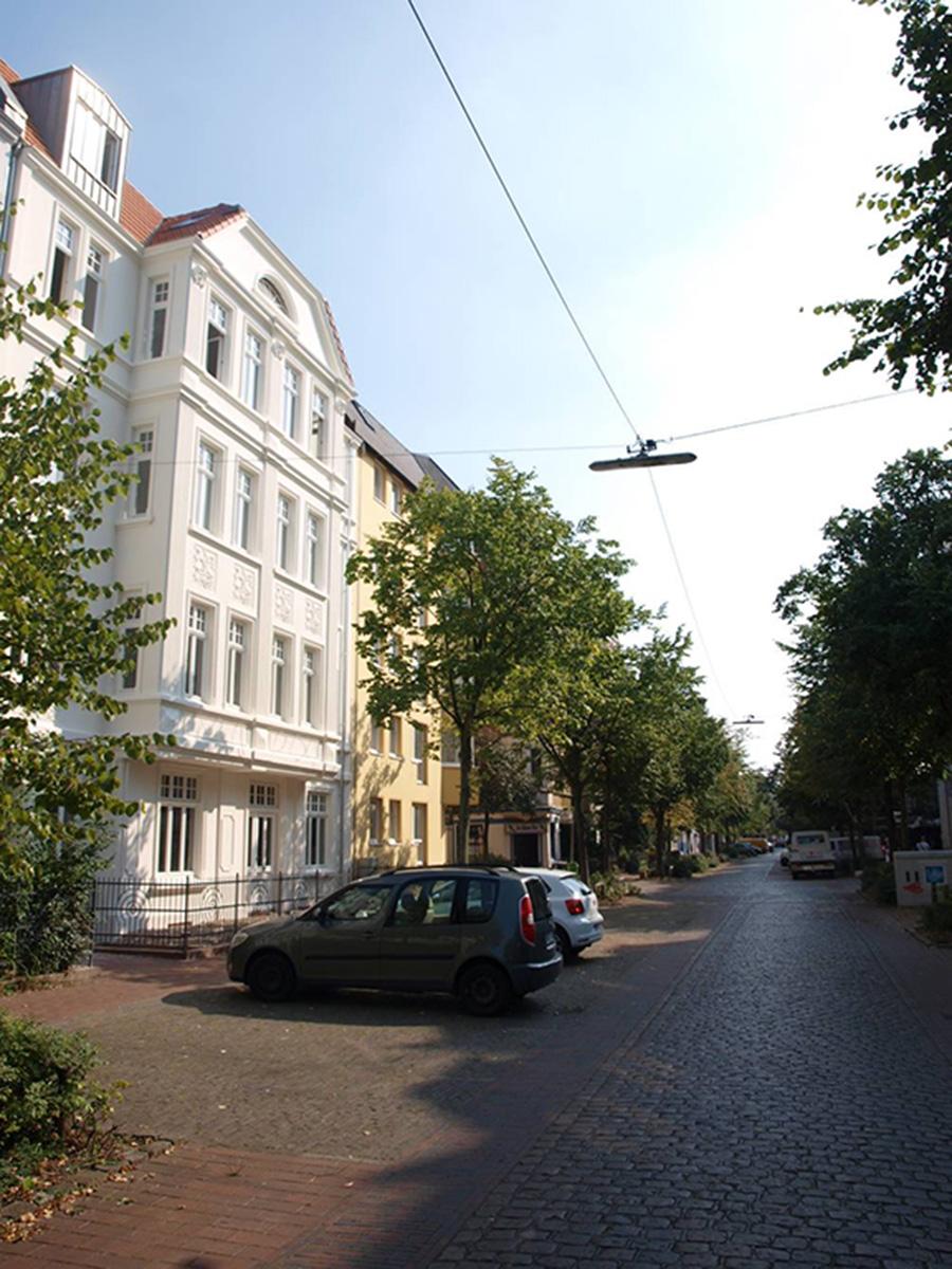 Blick in die Goethestraße im Gründerzeitquartier Bremerhaven-Lehe